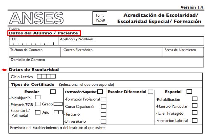 como completar el formulario 2.68