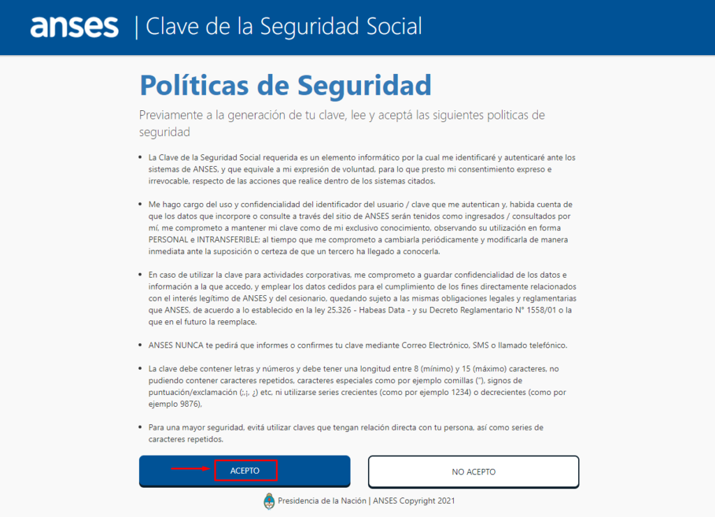 formulario seguridad social anses