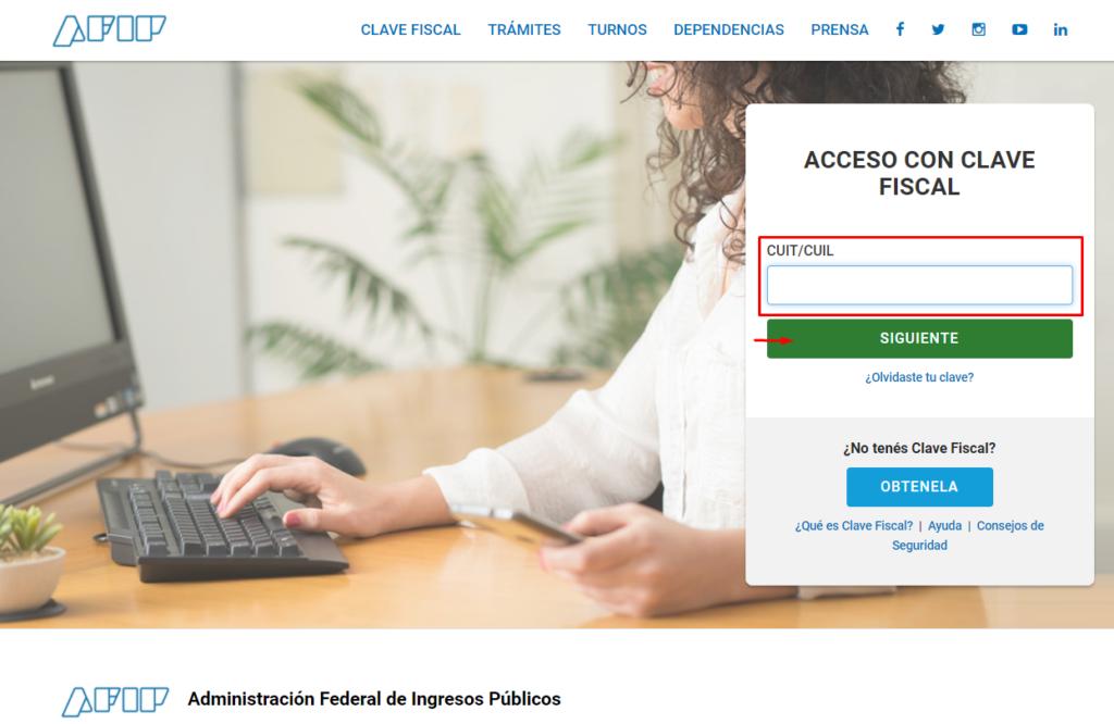 acceso con clave fiscal afip formularios