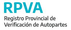registro provincial de verificacion de autopartes