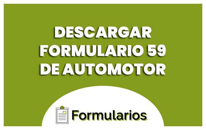 descargar formulario 59 de automotor