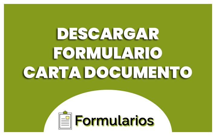 descargar el formulario carta documento