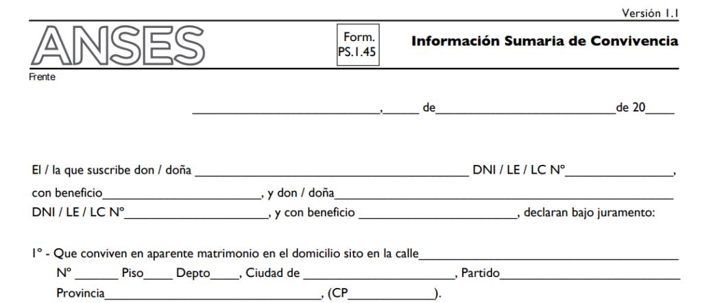 formulario 145 anses