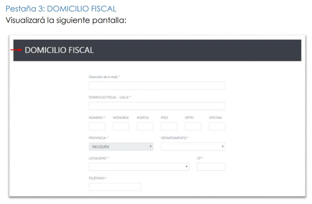 domicilio fiscal formulario cd 01