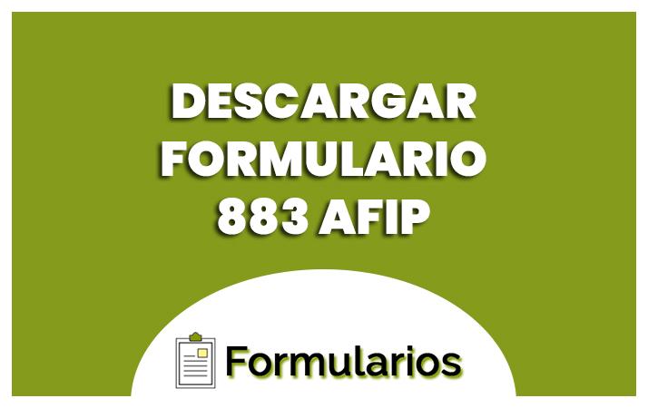 descargar el formulario 883 afip