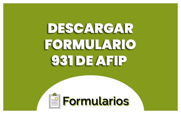 formulario 931 de afip
