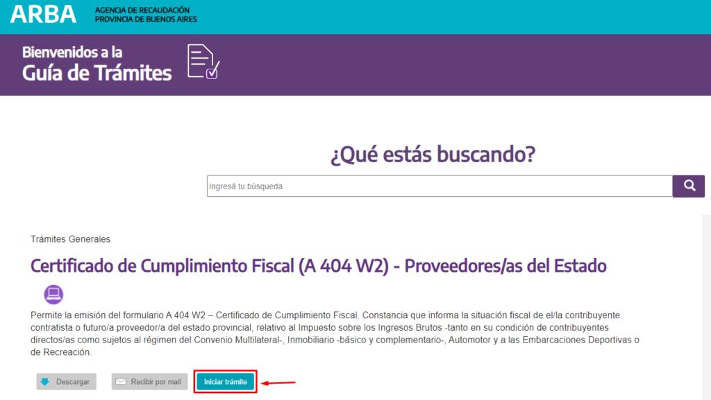 formulario 404 arba