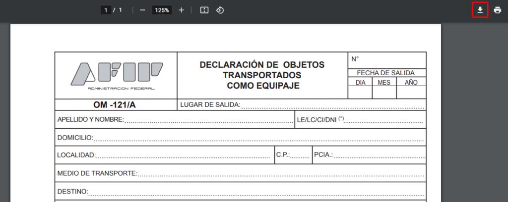 descargar formulario om 121